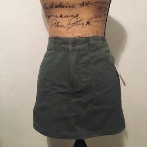 Empyre Army Green Mini Skirt